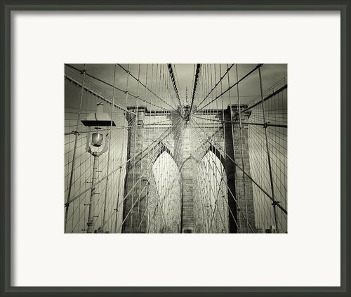 The Brooklyn Bridge Framed Print By Vivienne Gucwa