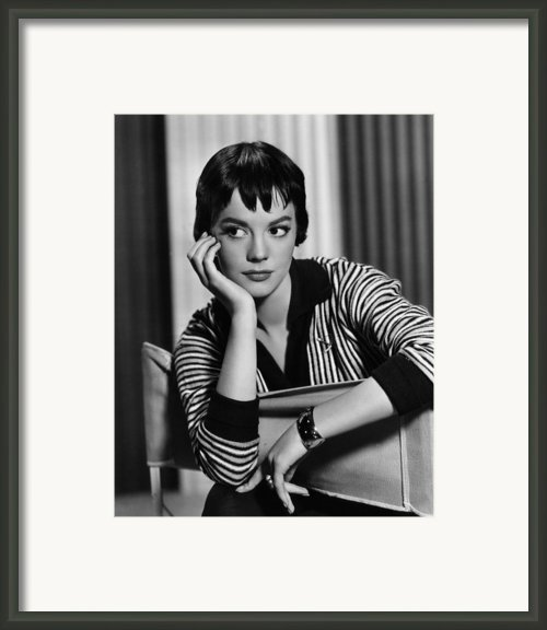 The Burning Hills, Natalie Wood, 1956 Framed Print By Everett