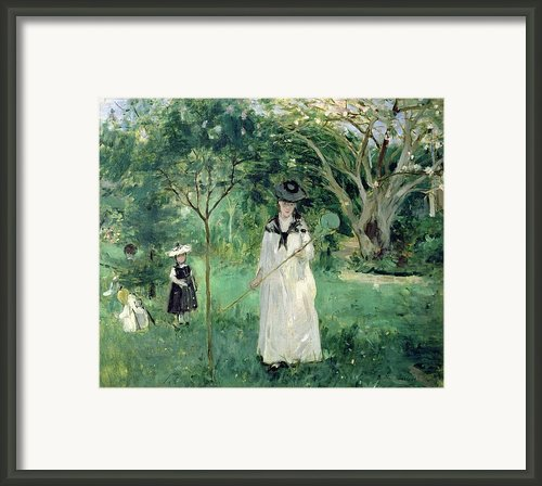 The Butterfly Hunt Framed Print By Berthe Morisot