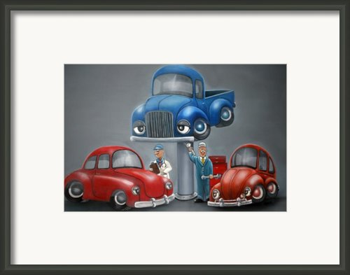 The Car Hospital Framed Print By Ofelia  Arreola