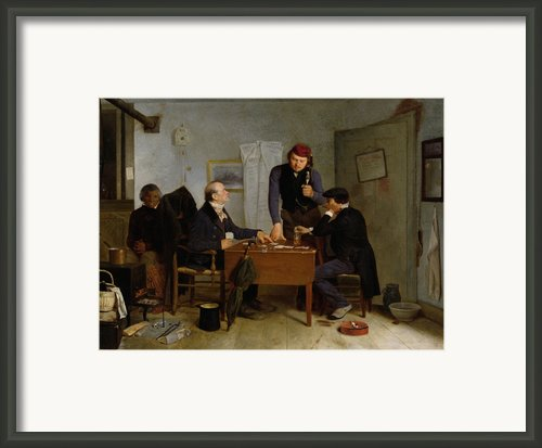 The Card Players Framed Print By  Richard Caton Woodville
