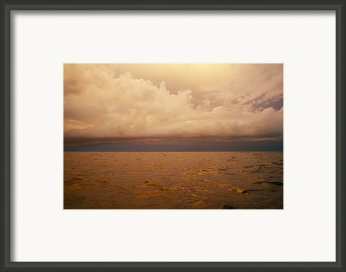 The Caribbean Sea Reflects The Sunset Framed Print By Stephen Alvarez