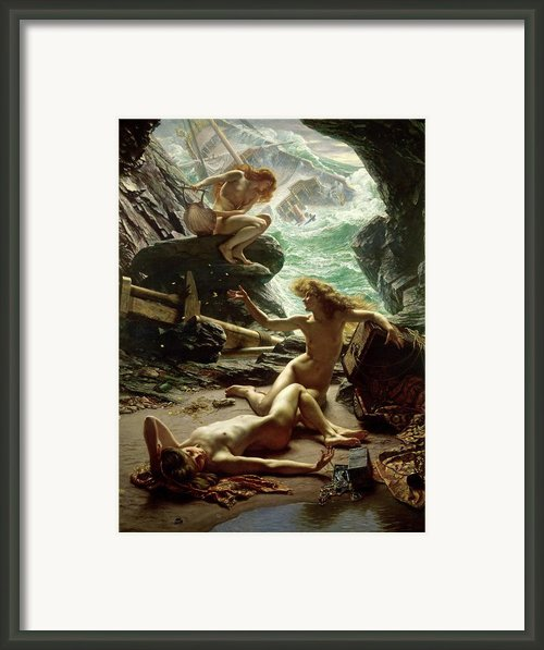 The Cave Of The Storm Nymphs Framed Print By Sir Edward John Poynter