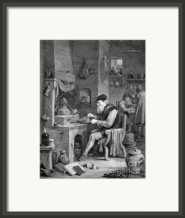 The Chemist, 17th Century Framed Print By Science Source