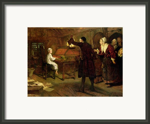 The Child Handel Discovered By His Parents Framed Print By Margaret Isabel Dicksee