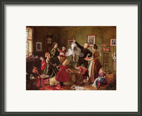 The Christmas Hamper Framed Print By Robert Braithwaite Martineau