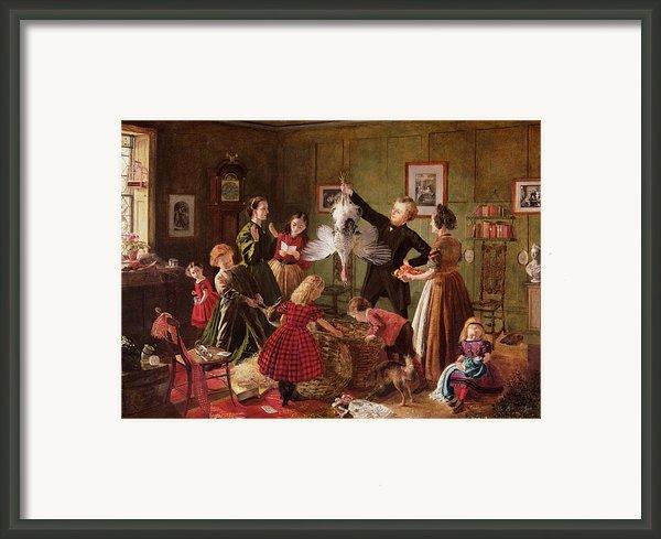 The Christmas Hamper Framed Print By Robert Braithwaite Martineau