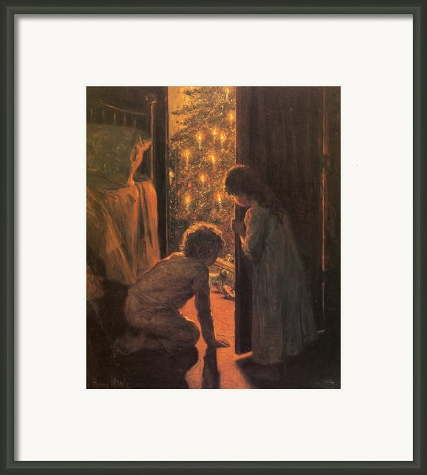 The Christmas Tree Framed Print By Henry Mosler
