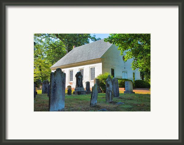 The Church Cemetery Framed Print By Steven Ainsworth