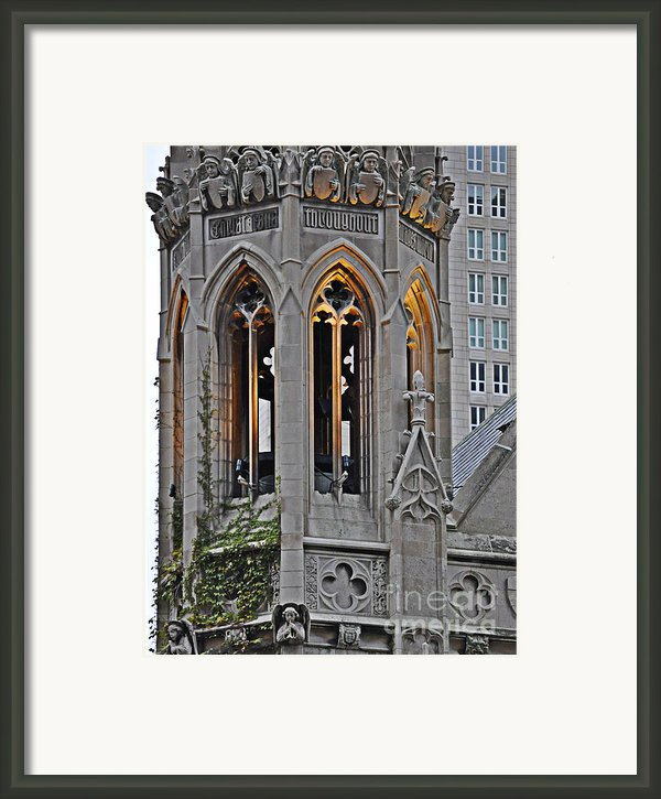 The Church Tower Framed Print By Mary Machare