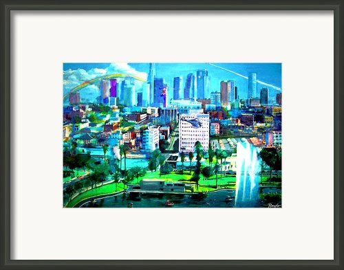 The City Of Angels Framed Print By Romy Galicia