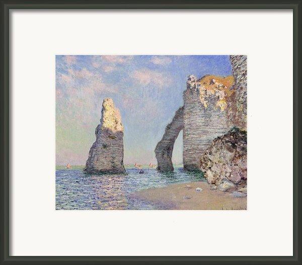 The Cliffs At Etretat Framed Print By Claude Monet