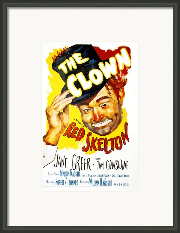 The Clown, Red Skelton, 1953 Framed Print By Everett