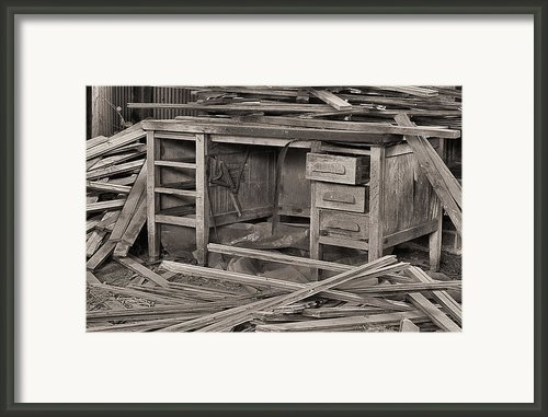 The Cluttered Desk Framed Print By Jc Findley