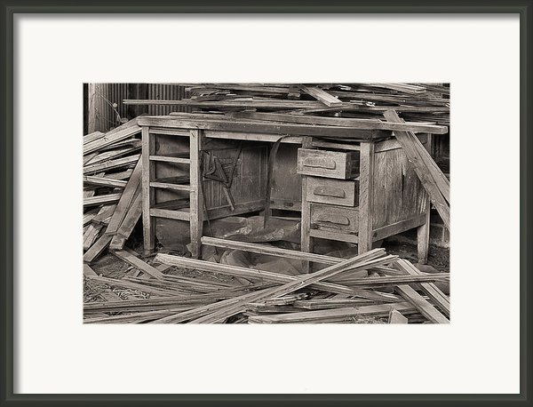 The Cluttered Desk Framed Print By Jc Findley