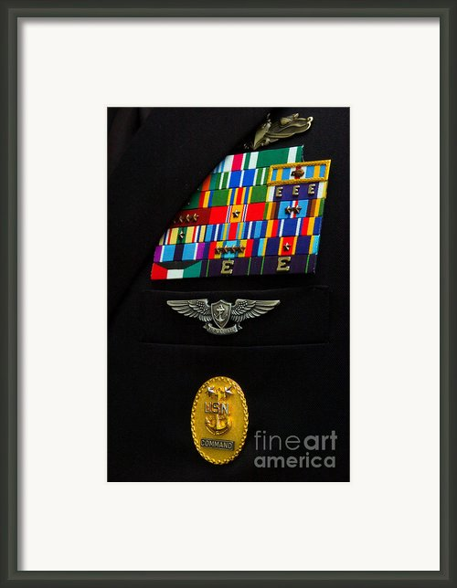 The Command Master Chief Badge Framed Print By Stocktrek Images