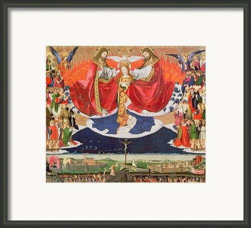 The Coronation Of The Virgin Framed Print By Enguerrand Quarton