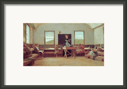 The Country School Framed Print By Winslow Homer