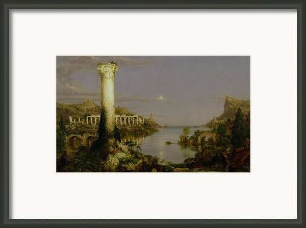The Course Of Empire - Desolation Framed Print By Thomas Cole