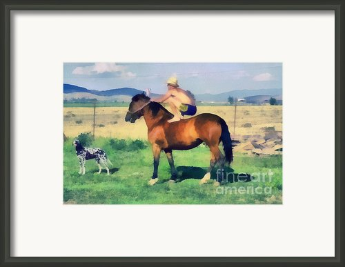 The Cowboy Framed Print By Odon Czintos