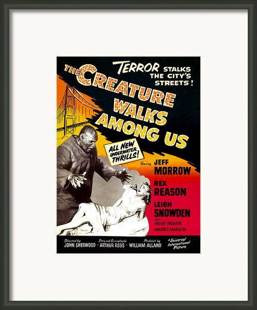 The Creature Walks Among Us, 1956 Framed Print By Everett