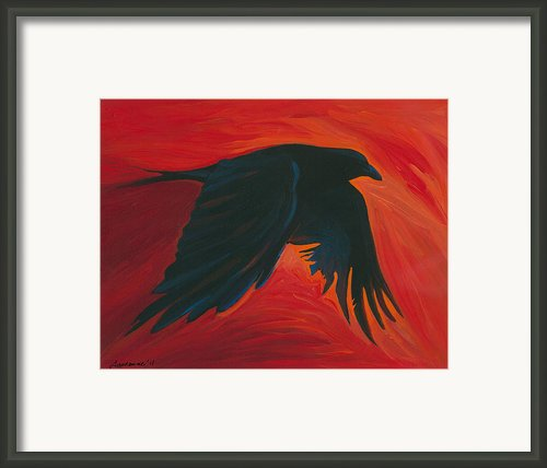 The Crow Framed Print By Mike Lawrence