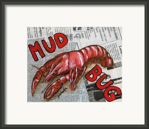 The Daily Mud Bug Framed Print By Joann Wheeler