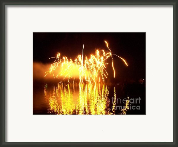 The Dance Of Fire And Water Framed Print By Sasha Marlay