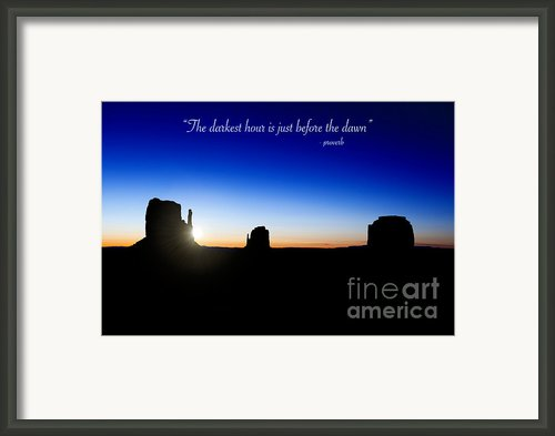 The Darkest Hour..... Framed Print By Jane Rix
