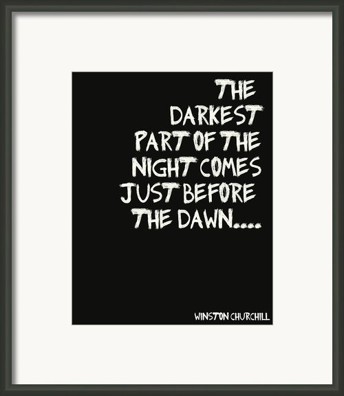 The Darkest Part Of The Night Framed Print By Nomad Art And  Design