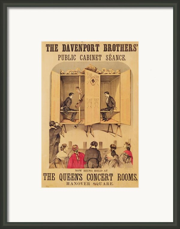 The Davenport Brothers Framed Print By English School