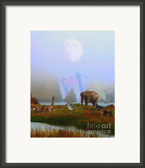 The Day After Armageddon At The San Francisco Zoo Framed Print By Wingsdomain Art And Photography