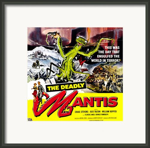 The Deadly Mantis, 6-sheet Poster Art Framed Print By Everett