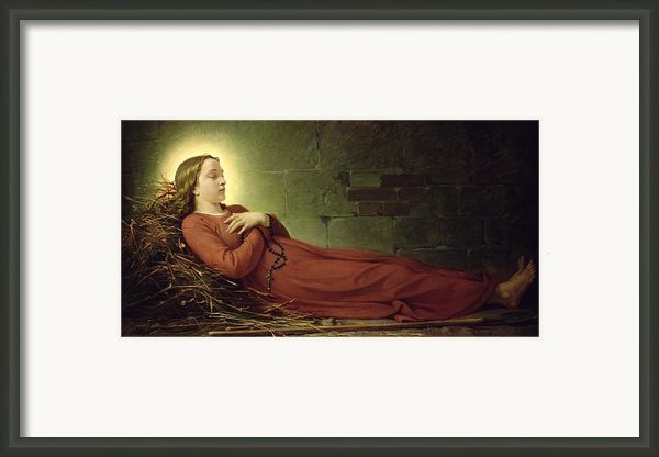The Death Of Germaine Cousin The Virgin Of Pibrac Framed Print By Alexandre Grellet