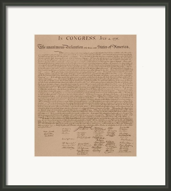 The Declaration Of Independence Framed Print By War Is Hell Store