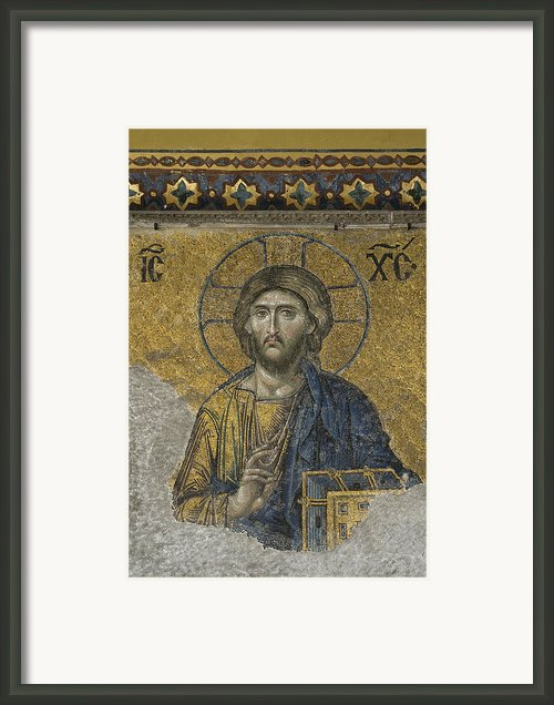 The Dees Mosaic In Hagia Sophia Framed Print By Ayhan Altun