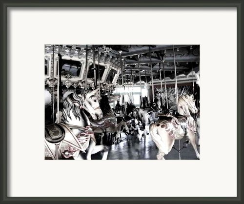 The Dentzel Carousel - Glen Echo Park Framed Print By Fareeha Khawaja