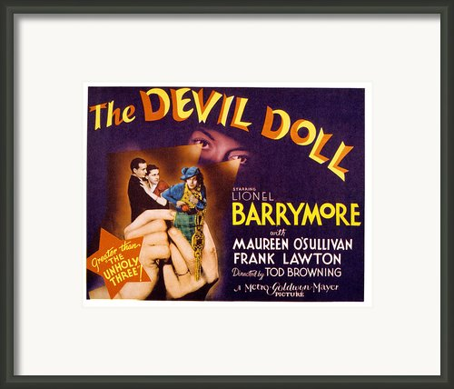 The Devil Doll, Frank Lawton, Maureen Framed Print By Everett
