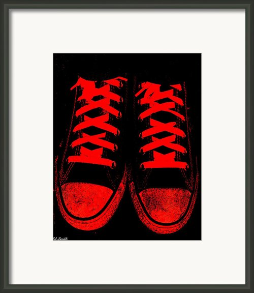The Devil Wears Converse Framed Print By Ed Smith