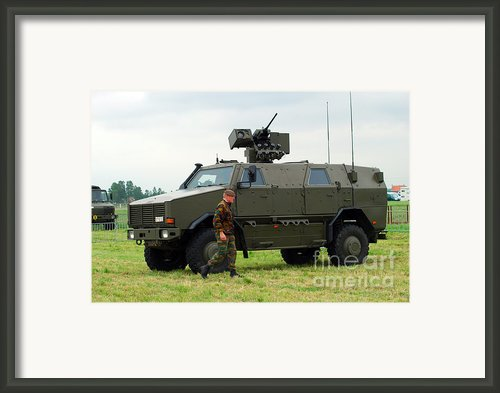The Dingo Ii In Use By The Belgian Army Framed Print By Luc De Jaeger