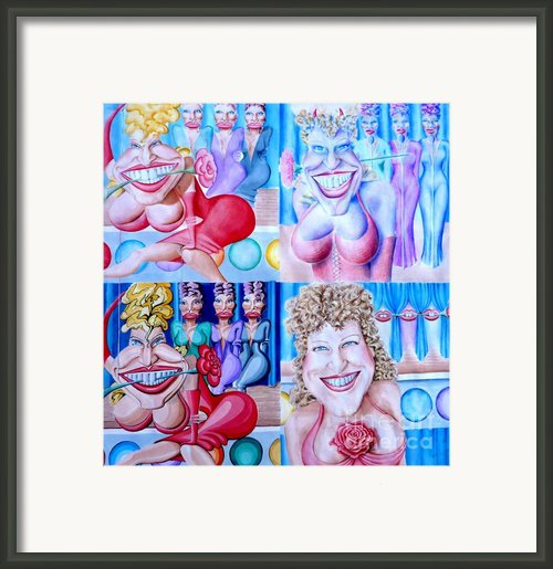 The Divine Miss M Framed Print By Debbie  Diamond