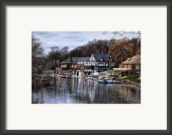 The Docks At Boathouse Row - Philadelphia Framed Print By Bill Cannon