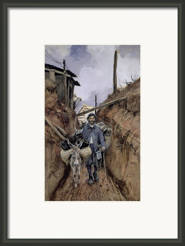 The Donkey Framed Print By Francois Flameng