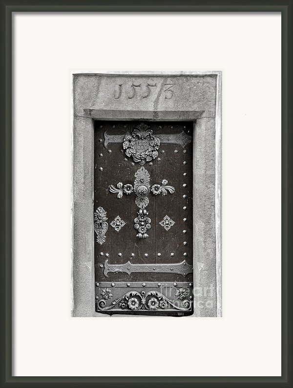 The Door - Ceske Budejovice Framed Print By Christine Till