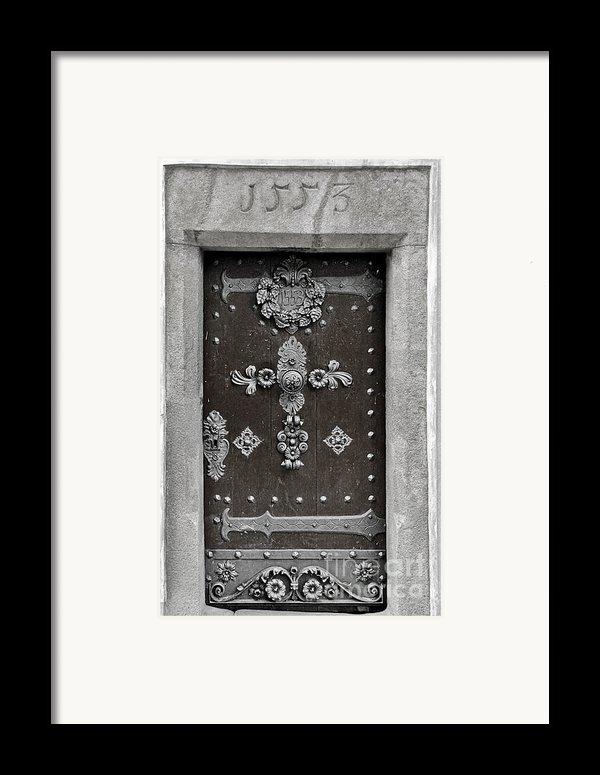 The Door - Ceske Budejovice Framed Print By Christine Till
