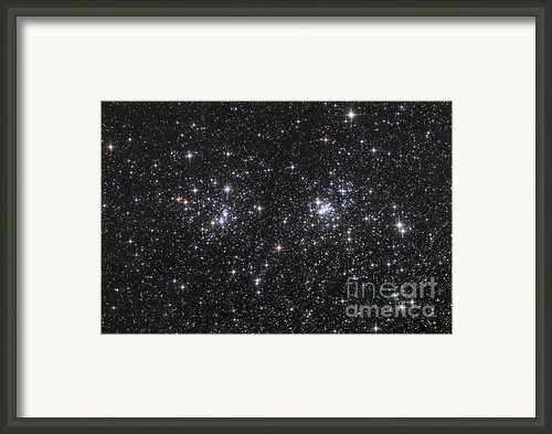 The Double Cluster, Ngc 884 And Ngc 869 Framed Print By Robert Gendler