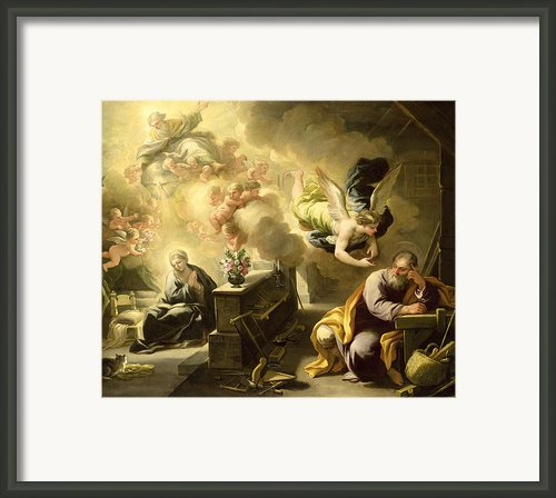 The Dream Of Saint Joseph Framed Print By Luca Giordano