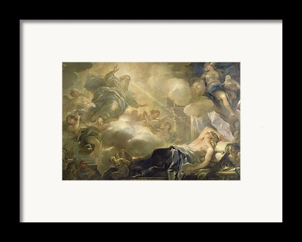 The Dream Of Solomon Framed Print By Luca Giordano