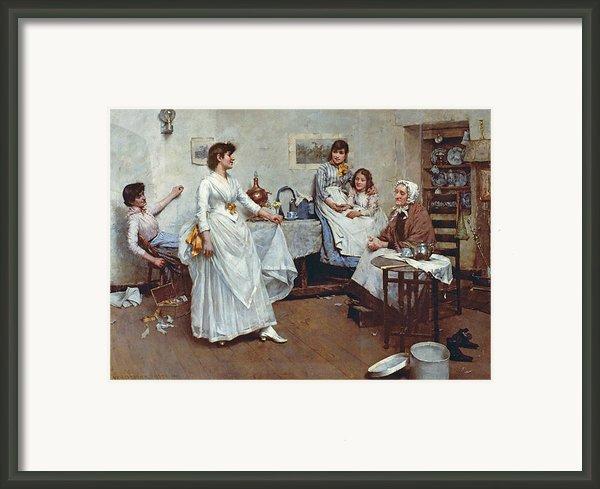 The Dress Rehearsal Framed Print By Albert Chevallier Tayler