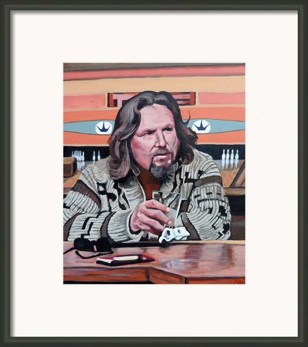 The Dude Framed Print By Tom Roderick
